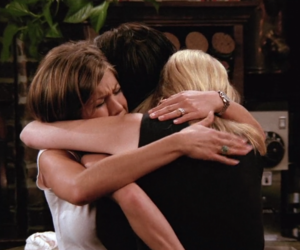 comedy, friends, and hug image