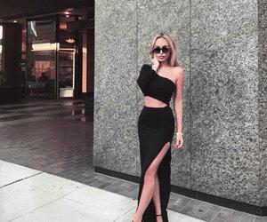 blackdress, fashion, and girl image