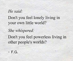 lonely, power, and quotes image