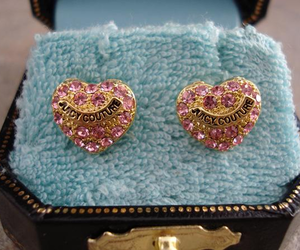 juicy couture, earrings, and pink image