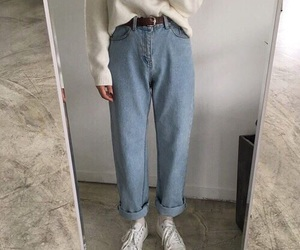 fashion, jeans, and aesthetic image