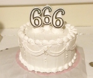 666, cake, and white image