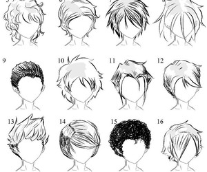 drawing, hair, and anime image