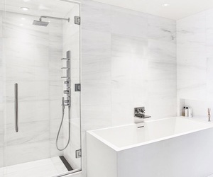 bathroom, marble, and silver image