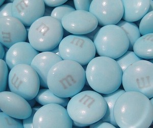 blue, m&m's, and food image