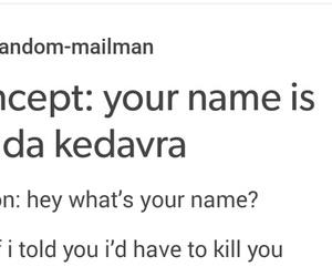 funny, harry potter, and avada kedavra image