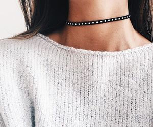 fashion, girl, and choker image