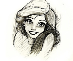 ariel, dessin, and disney image