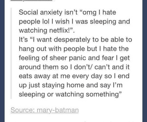 social anxiety, true, and tumblr image