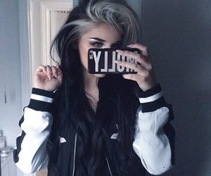 alternative, dyed hair, and hair goals image