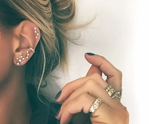 girly, piercing, and stars image