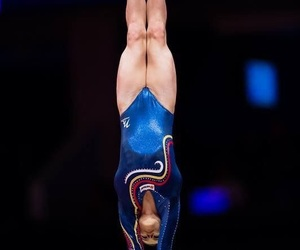 gym, gymnastics, and blauw image