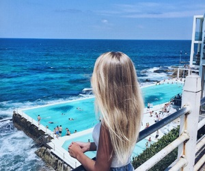 blonde, blue, and travel image