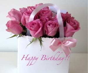 rose, flowers, and birthday image