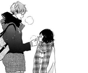 black and white, manga, and boy image