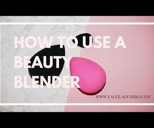 beauty, makeup sponge, and makeup image