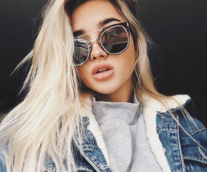 girl, sunglasses, and beauty image