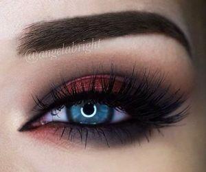 eyebrows, makeup, and cat eye image