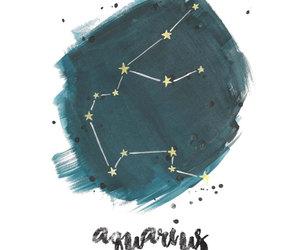 aquarius, astrology, and constellation image