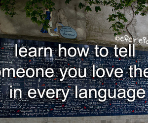 before i die, I Love You, and language image