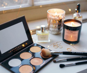 makeup, beauty, and candle image