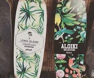 longboard, skateboard, and summer image