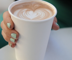 coffee, nails, and heart image