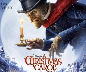christmas, Jim Carey, and a christmas carol image