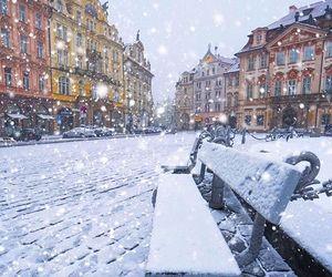 czech republic, prague, and winter image