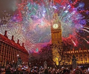 colorful, fireworks, and new year image