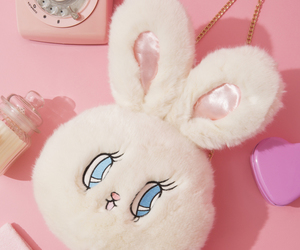 pink and bunny image