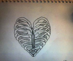 bare, heart, and chest image