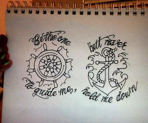 anchor, drawing, and sailor image