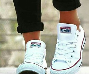 white, converse, and all star image