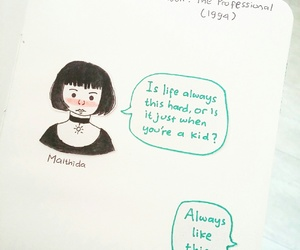 drawing, quotes, and short hair image