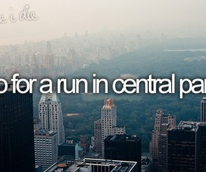 Central Park, before i die, and new york image