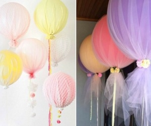 balloons, birthday party, and rose image