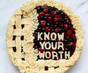 art, fruit, and pastries image