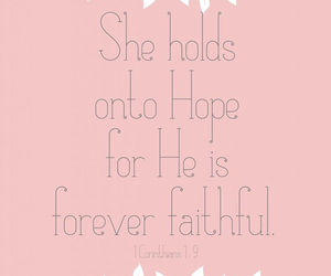 hope, faith, and bible image