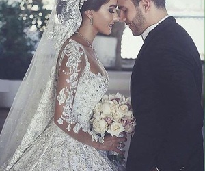 couple, cute, and wedding image