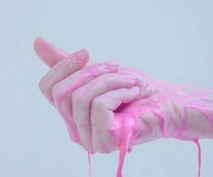 pink, hand, and aesthetic image