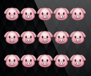 background, pig, and pink image