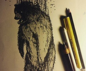 art, ink, and black+ image