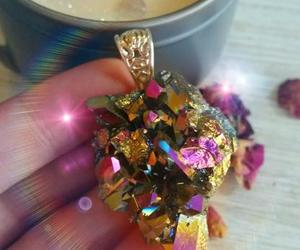 hippie, magical, and aura crystals image