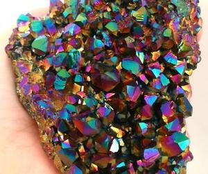 amethyst, colorful, and crystals image
