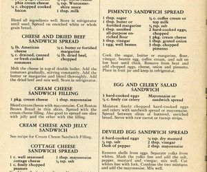 recipes, vintage, and sandwiches image
