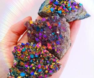 amethyst, crystals, and cosmic image