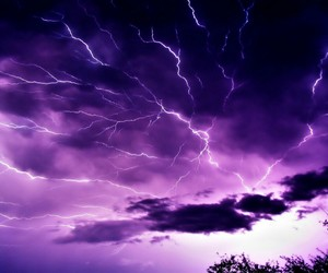 purple, sky, and lightning image