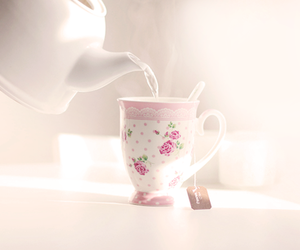 tea, pink, and vintage image