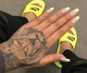 nails, tattoo, and nike image
